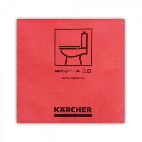 mikrofibra czerwona gładkie włókno 37,5 x 38cm KÄRCHER
